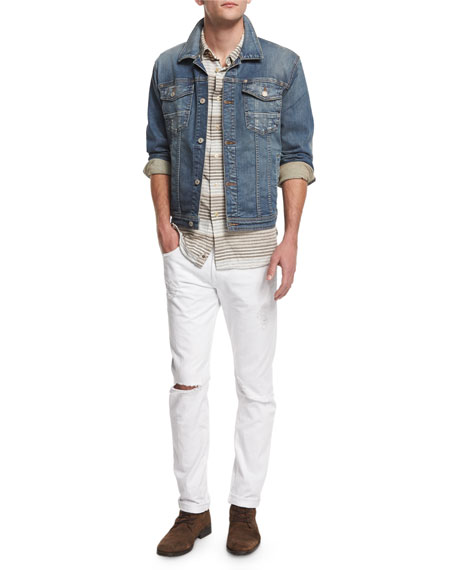 7 For All Mankind Trucker Light Wash Jean