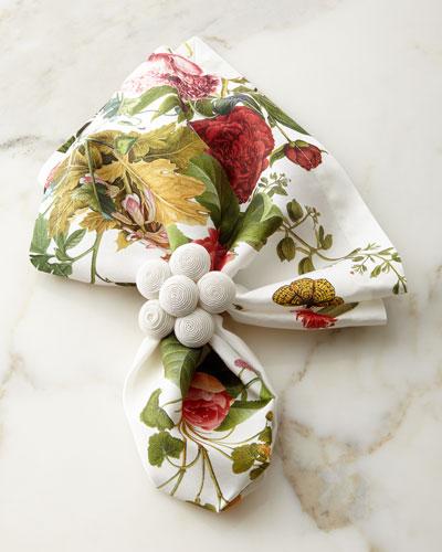 Field of Flowers Napkin & Soutache Blossom Napkin Ring