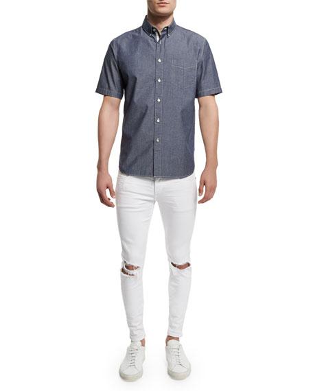 Rag & Bone Standard Issue Woven Short-Sleeve Shirt,