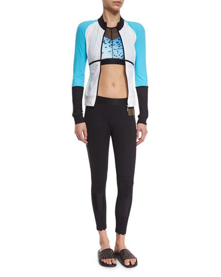 Monreal LondonFeatherweight Colorblock Zip-Up Sport Jacket, White