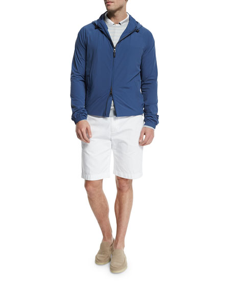 Loro Piana Regatta Deck Tech Rain Jacket, Merlin