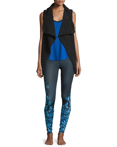 Alo Yoga Cozy Up Draped Sport Vest, Black