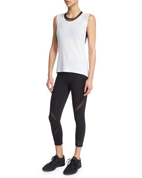 Suprastelle Mesh-Panel Performance Leggings, Black