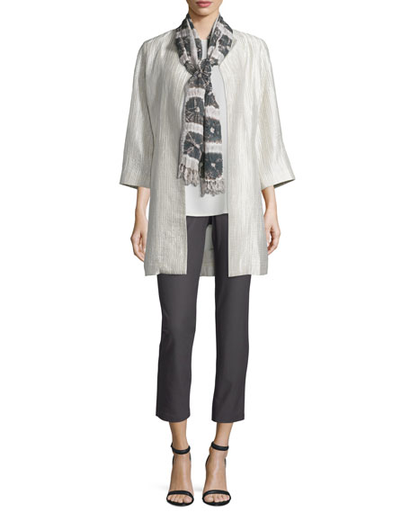 Eileen Fisher Silk Groove Dressy Jacket