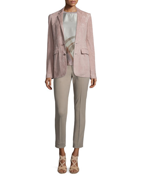 Ralph Lauren Collection Yvette Two-Button Jacket, Rose