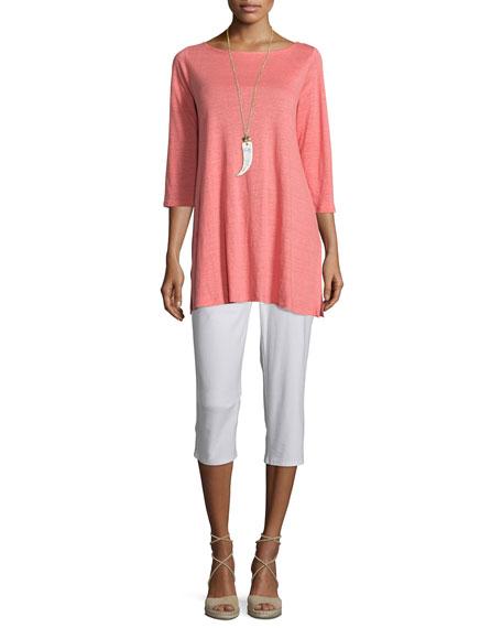 Eileen Fisher 3-4-Sleeve Organic Linen Tunic