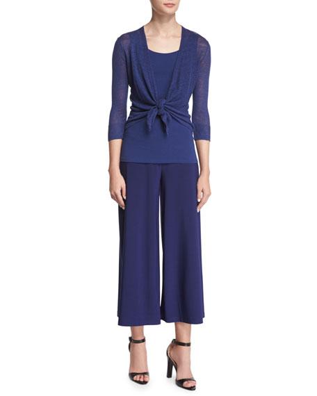 NIC+ZOE 4-Way Linen-Blend Knit Cardigan, Abyss, Petite