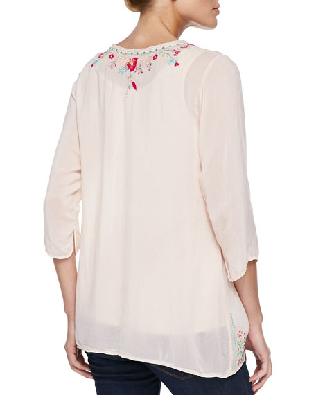 Priscilla Embroidered Tunic, Petite