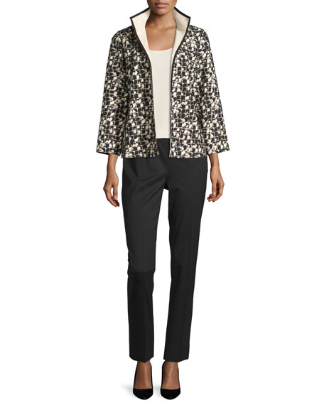 Lafayette 148 New York Belline Reversible Printed Jacket,