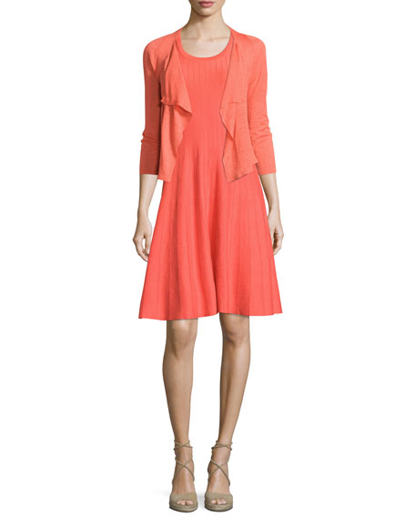 NIC+ZOE 4-Way Drifting Cardigan, Hot Coral, Plus Size