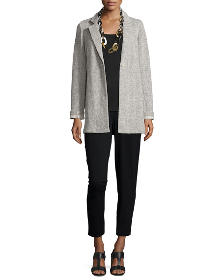 Eileen Fisher Twisted Terry Long Jacket