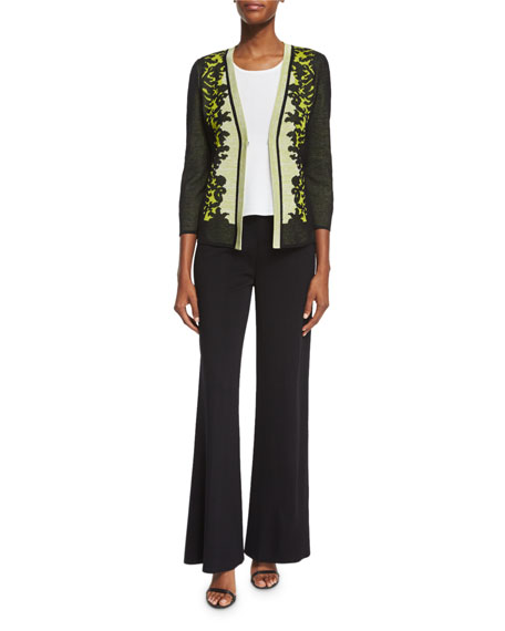 Toula Short Tropical-Print Jacket, Plus Size