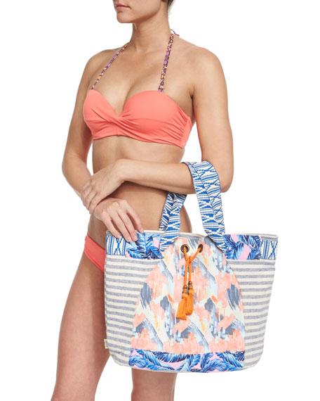 Maaji Starfish Hue Twist-Front Reversible Swim Top, Orange