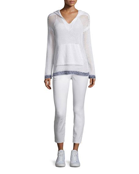 Rag & BoneThea Mesh Hooded Sweatshirt, White