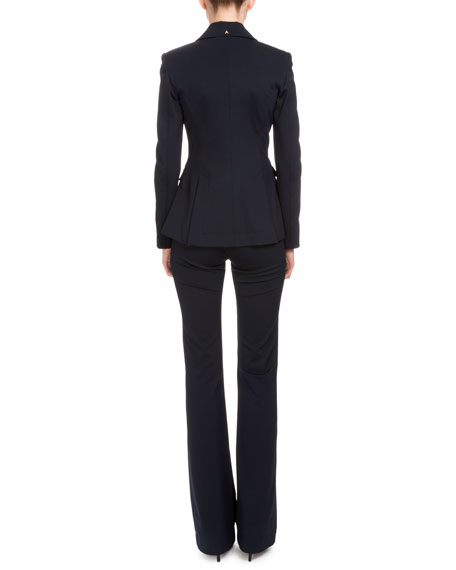 Altuzarra Fenice Two-Button Blazer, Navy