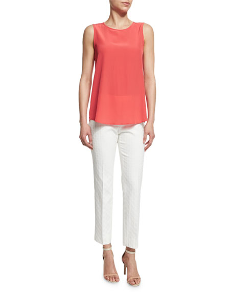 Peserico Sleeveless Silk Shell, Coral