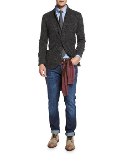 Cardigan Jacket & Jeans