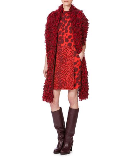 Akris Double-Face Multi Animal-Print Sleeveless Dress