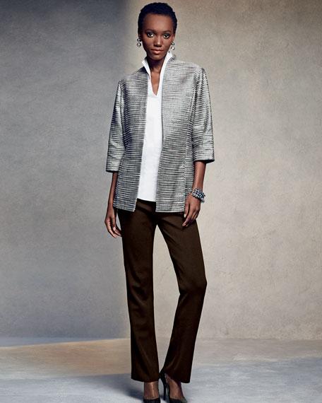 Sleeveless Stretch-Cotton Shirt