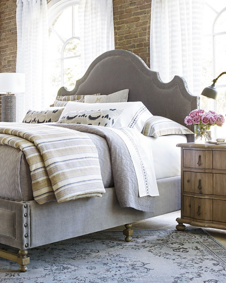 Aimee Velvet King Bed