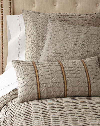 Pleat-Textured Bedding