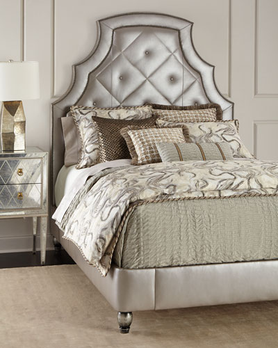 Bambi Quilted-Leather Bed