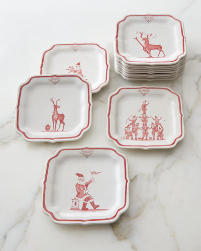 Country Estate Ruby Reindeer Games Party Plates