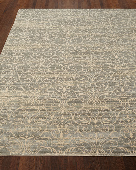 "Courtly Blue Rug, 7'6"" x 10'6"""