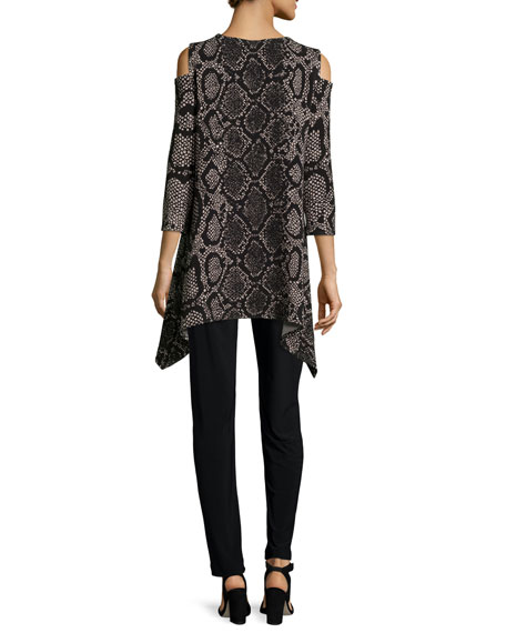 Rattle & Roll Cold-Shoulder Animal-Print Tunic