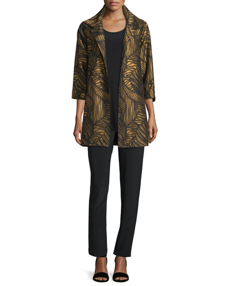 Waves Jacquard Party Jacket, Petite