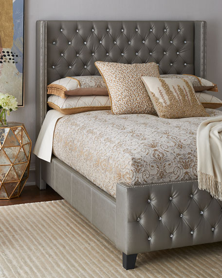 Mercedez Jeweled King Bed