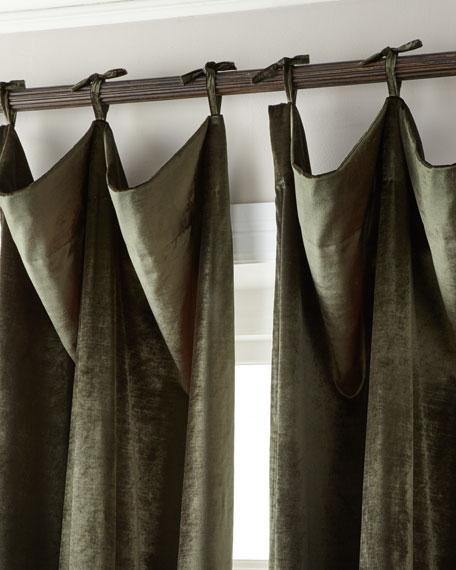 """Misti Thomas Modern Luxuries 108""""L Tie-Top Velvet Curtain"""