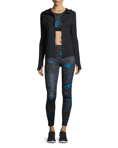Sports Jacket, Bra, and Compression Tights
