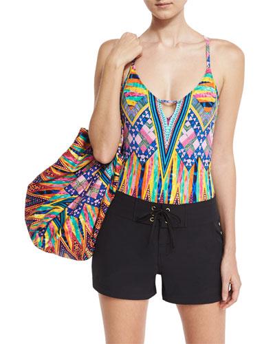 Shorts, Swimsuit, & Beach Bag