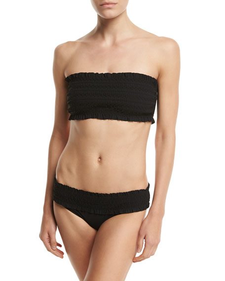 Tory Burch Costa Bandeau Swim Top, Black