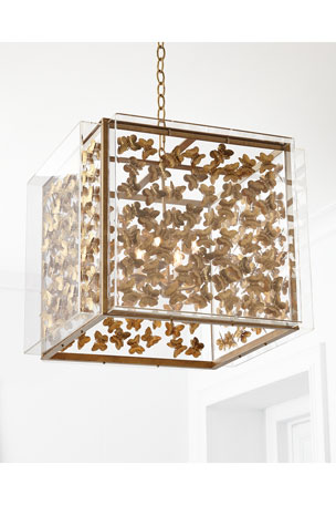 Tommy Mitchell Medium Butterfly 4-Light Pendant SMGILDBUTTERFLYCHANDELIERGLD