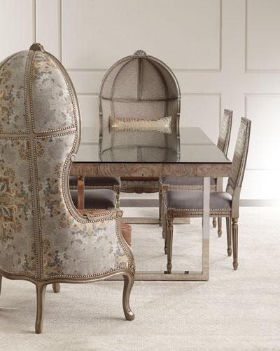 Kanella Balloon Chair  Tarragon Dining Table  & Avalon Dining Chair