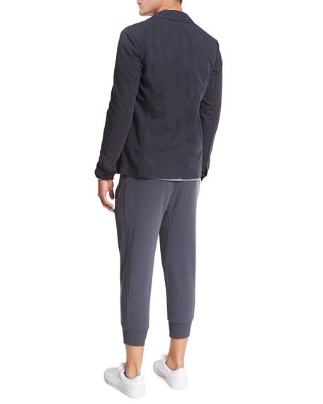 Drop-Rise Cropped Sweatpants