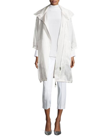 Stretch-Cotton Cropped Pants