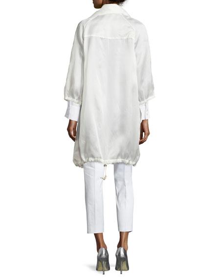 Stretch-Cotton Cropped Pants, Petite