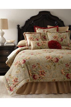 Sherry Kline Home Fresco Round Ruffle Pillow Fresco Boudoir Pillow
