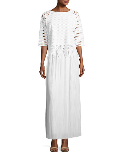 Woven Lace Top & Skirt