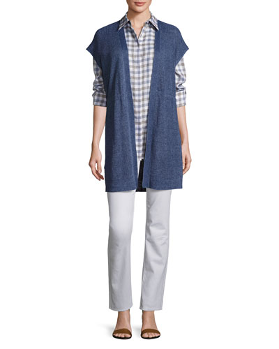 Knit Vest & Check Shirt
