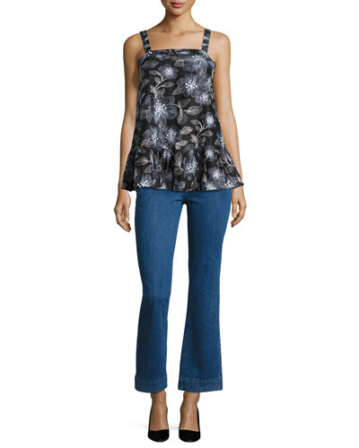 High-Waist Flare-leg Jeans, Indigo and Matching Items