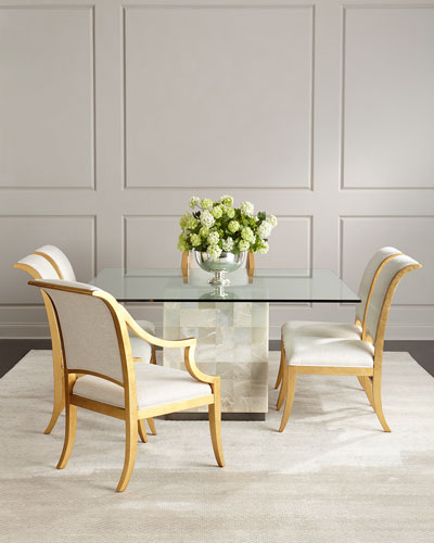 Palmetto Quartz Dining Table Elizabeth Chairs
