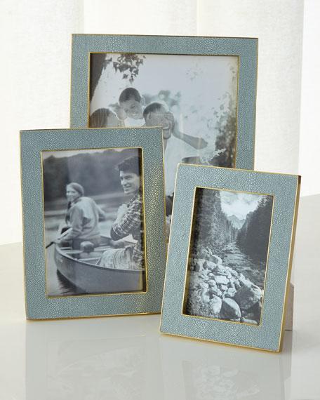 "Mist Classic Faux-Shagreen 5"" x 7"" Frame"