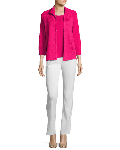 Textured 3/4-Sleeve Jacket, Petite and Matching Items