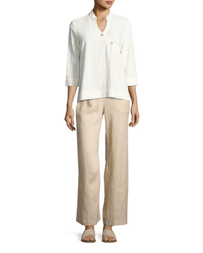 Linen Wide-Leg Pants  and Matching Items, Plus Size