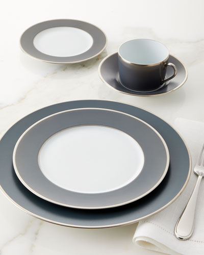 Color Block Gray/Platinum Salad Plate and Matching Items