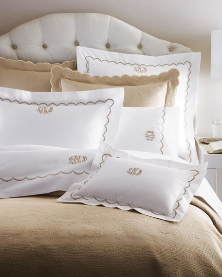 King Scallops Embroidered Duvet Cover